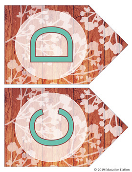 Rustic Shabby Chic Letter Banners