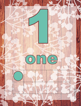 Rustic Shabby Chic Number Posters