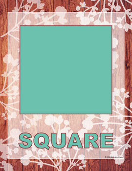 Rustic Shabby Chic Shape Posters