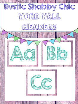 Rustic Shabby Chic Word Wall Headers