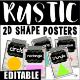 EDITABLE Rustic Shiplap 2D Shape Posters