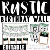 EDITABLE Rustic Shiplap Birthday Bulletin Board