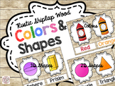 Rustic Shiplap Colors & 2D 3D Shapes