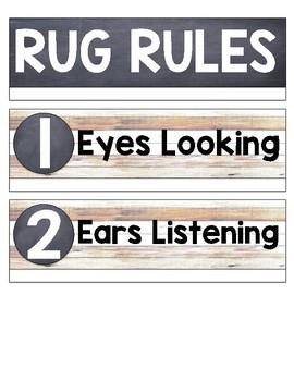 Rustic Shiplap Rug Rules