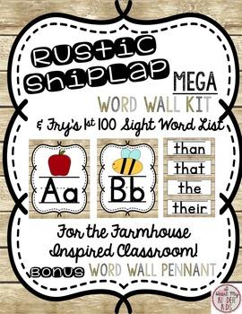 Rustic Shiplap Word Wall & Sight Words