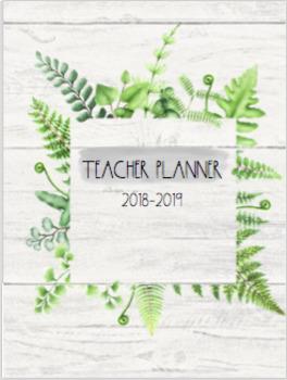 Rustic & Simple 2018-2019  Teacher Planner