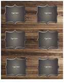 Rustic Small Labels