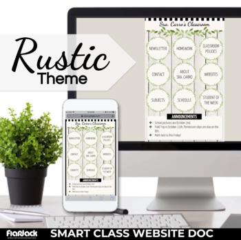 rustic smart class website doc google slides style tpt