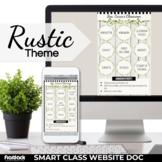 Parent Communication Template | Rustic Farmhouse | Google Slides | Class Website