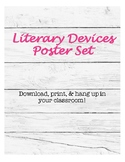 Rustic Style Literary Devices Poster Set