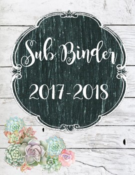 Rustic Sub Binder Cover