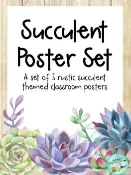 Rustic Succulent Posters