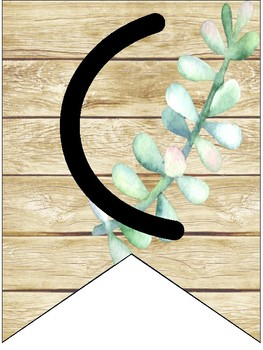 Rustic Succulent Welcome Banner