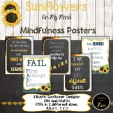 Rustic Sunflower Habits of mind and mindset posters- 40 di