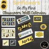 Rustic Sunflower Wall Calendar pieces- 2 different shiplap