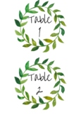Rustic Table Number Labels