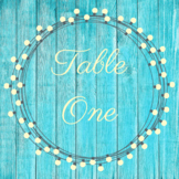 Rustic Table Numbers 1-8