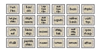 Rustic Classroom Decor Teacher ToolBox Labels