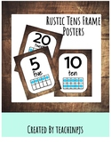 Rustic Ten Frame Posters 1-20 (Or use as flash cards!)