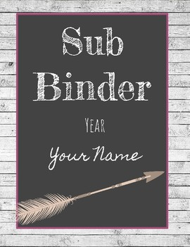 Rustic Theme Binder Covers