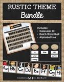Rustic Theme Classroom - BUNDLE