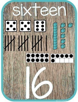 Rustic Themed Calendar, Number and Alphabet Poster's in one!