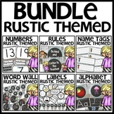 Rustic-Themed Classroom Decor BUNDLE