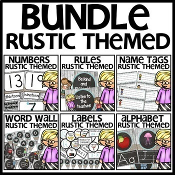 Rustic-Themed Classroom Decor BUNDLE