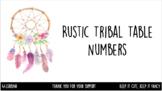 Rustic Tribal Table Numbers