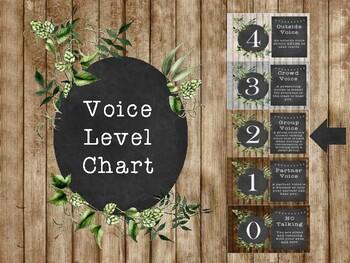 Rustic Voice Level Poster Set