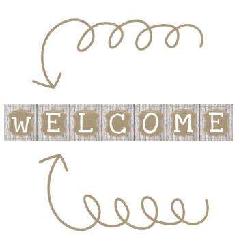 Rustic Classroom Decor Welcome Sign Freebie