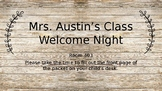 Rustic Welcome night / Parent night / Welcome Powerpoint
