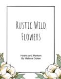 Rustic Wild Flower Theme Classroom Decor Kit
