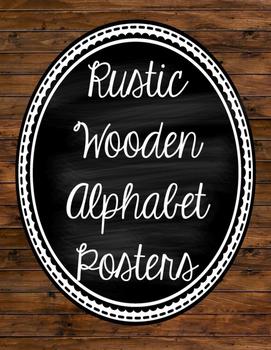 Rustic Wood Alphabet