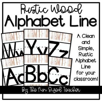 Rustic Wood Alphabet Line