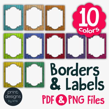 Rustic Wood Backgrounds, Borders & Labels • Print Designs by Kris