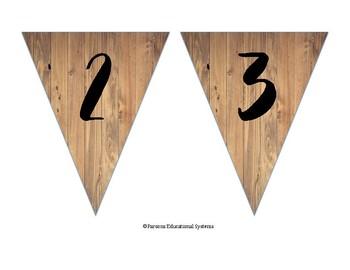 Rustic Wood Banner Alphabet Set