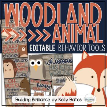 Rustic Woodland Animals Behavior Tools (Editable!)