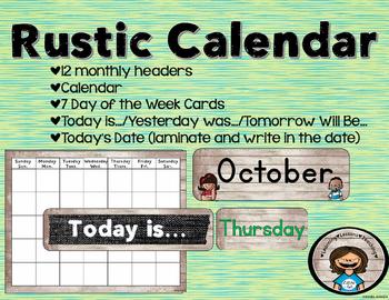 Rustic Wood Calendar