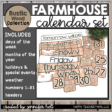 Rustic Wood Calendar Bundle