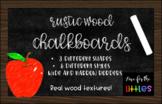 Rustic Wood Chalkboard Clip Art