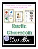Rustic Wood Classroom Bundle
