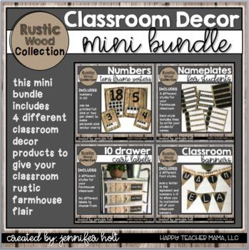 Rustic Wood Collection Classroom Decor {Bundle!}