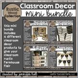 Rustic Wood Collection Classroom Decor Mini Bundle