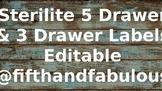 Rustic Wood Editable Drawer Labels