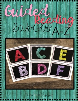 Rustic Wood Guided Reading Levels {Classroom Library or Word Wall Letters}