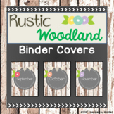 Rustic Woodland Monthly Binder Covers (Spines Included)