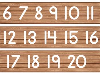 Rustic Wood Number Line