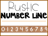 Rustic Wood Number Line