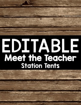 Editable Rustic Wood Open House Station Tents